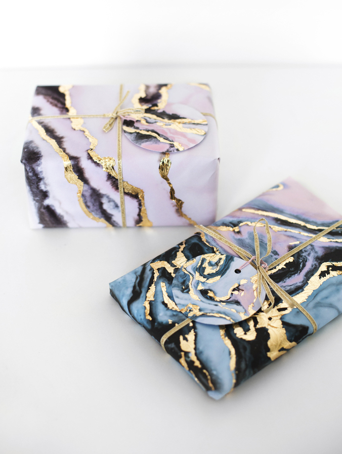 gold-leaf-marble-gift-wrap-tutorial-christmas-guft-wrap